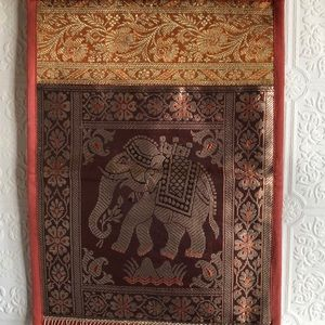 Boho Indian Asian Elephant Magazine Holder